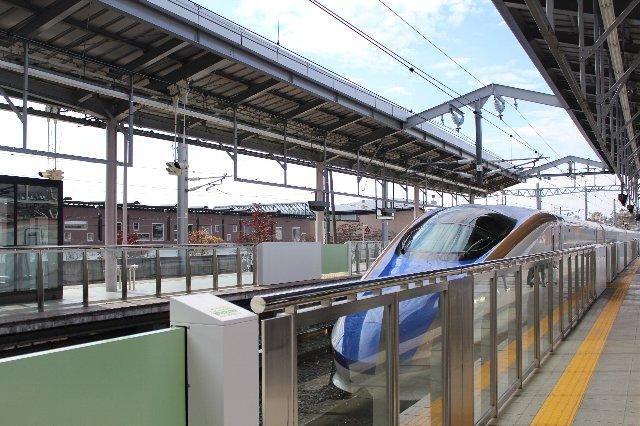 北陸新幹線@軽井沢駅