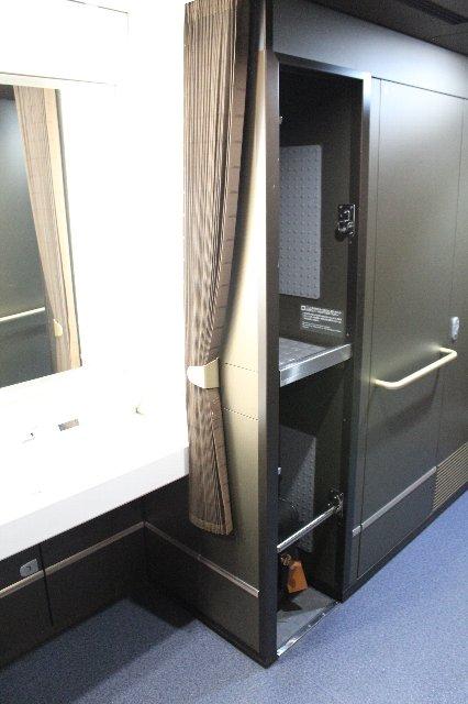 新幹線の荷物置きスペース